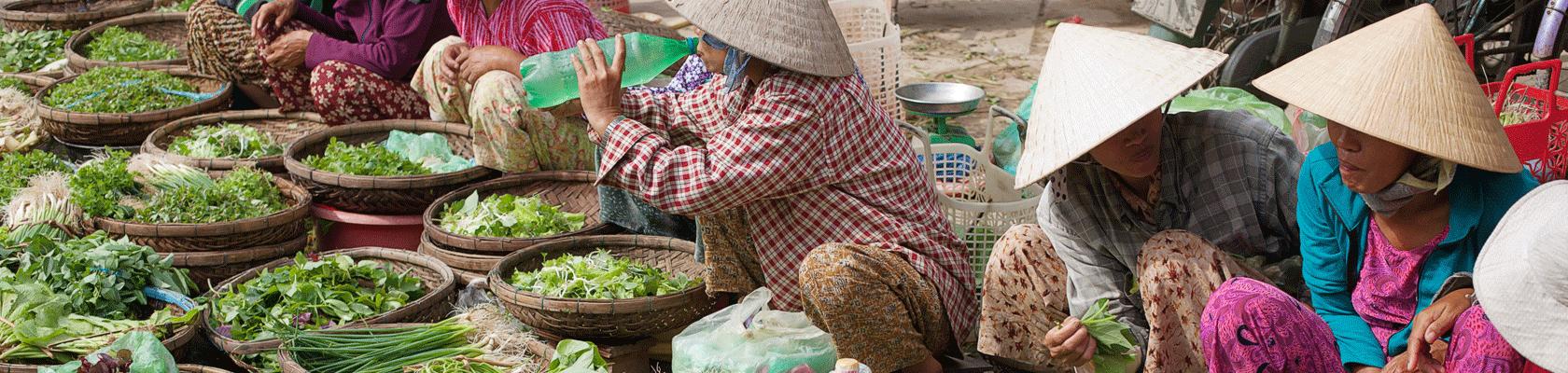 Lokale markt in Vietnam