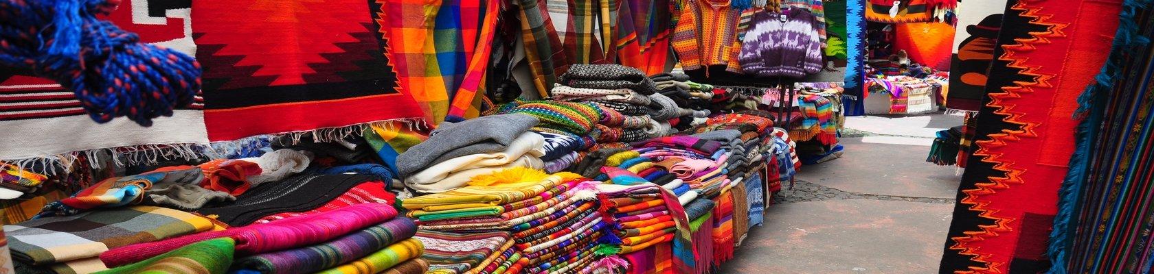 Kleurrijke markt van Otavalo