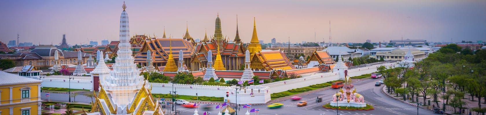 Het oude centrum van Bangkok