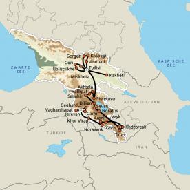 Routekaart Georgië & Armenië