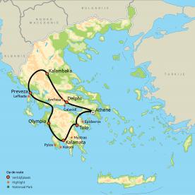 Route Beste van Griekenland